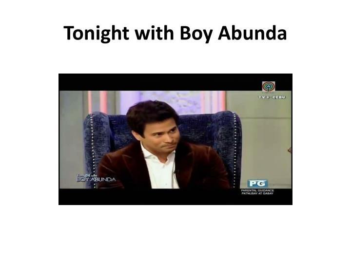 Tonight with Boy