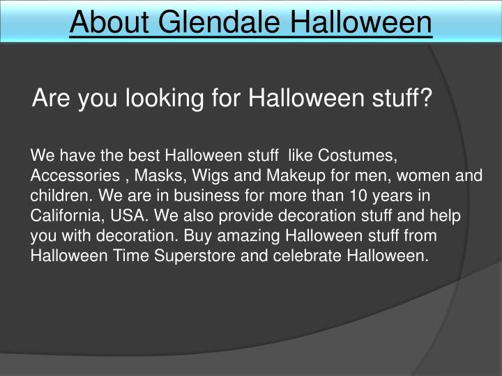 About Glendale Halloween