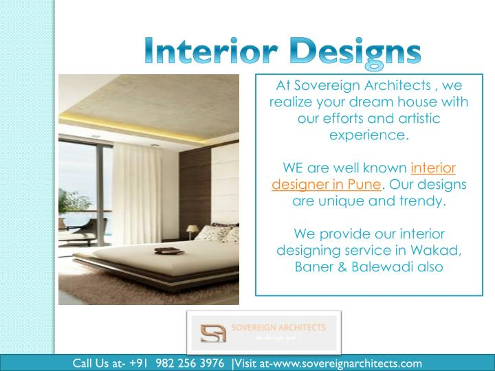 At Sovereign Architects , we
