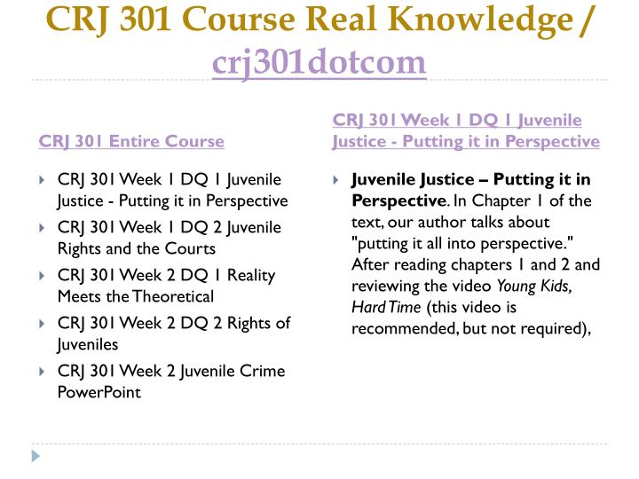 Crj 301 course real knowledge crj301dotcom1