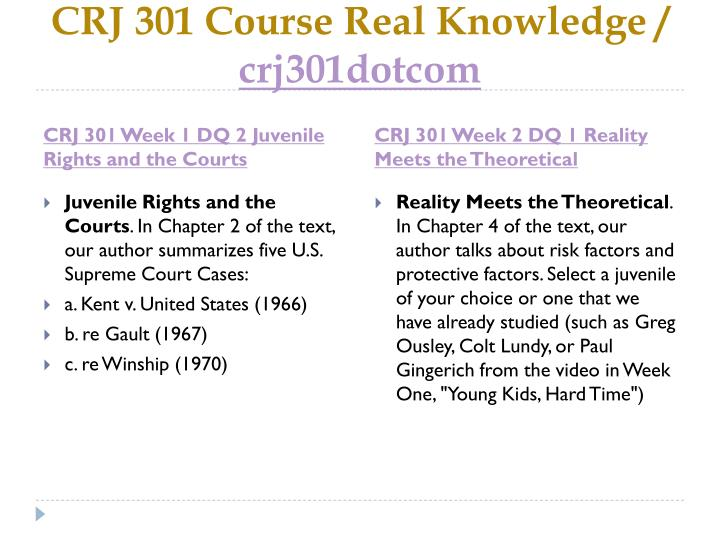 Crj 301 course real knowledge crj301dotcom2