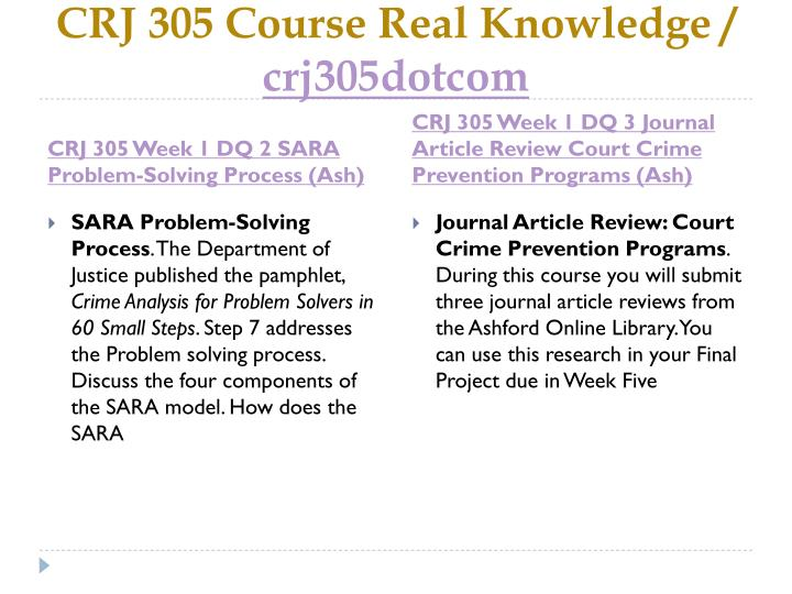 Crj 305 course real knowledge crj305dotcom2