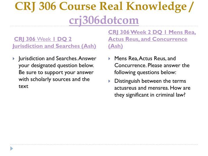 Crj 306 course real knowledge crj306dotcom2