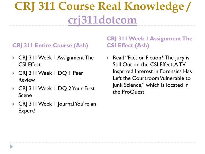 Crj 311 course real knowledge crj311dotcom1