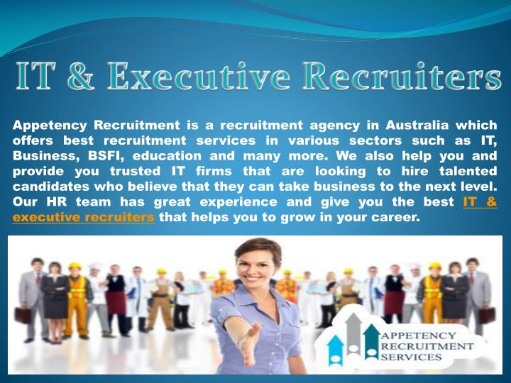 IT & Executive Recruiters
