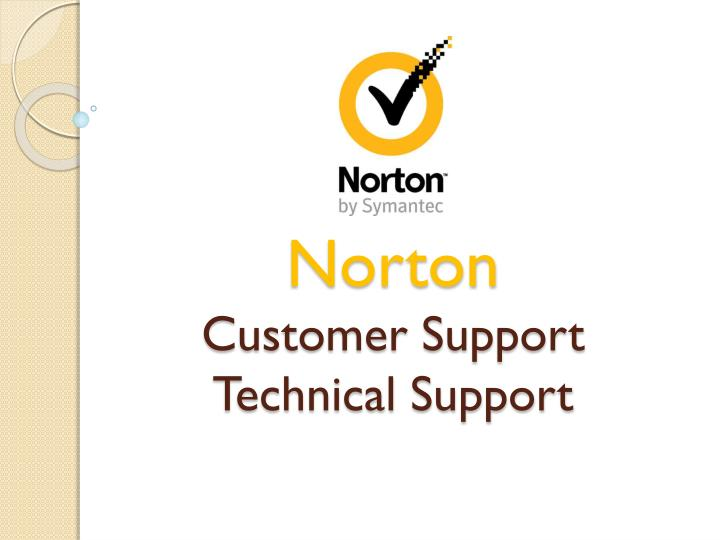 Norton customer support technical support