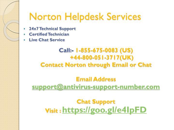 Norton Helpdesk Services