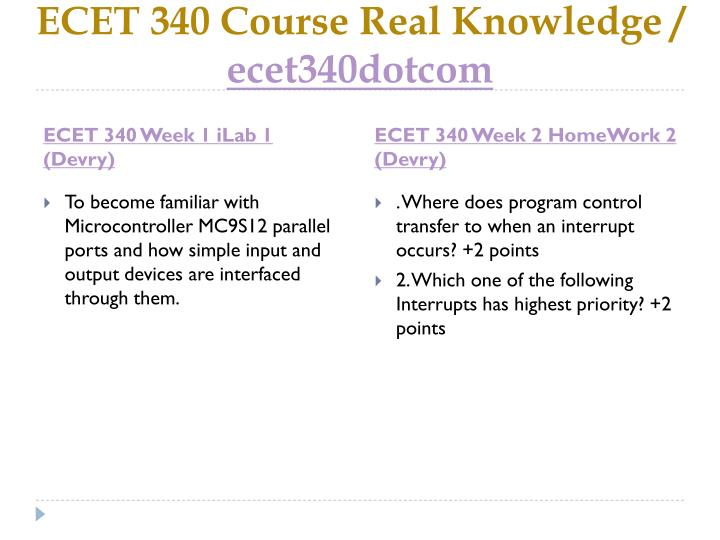 Ecet 340 course real knowledge ecet340dotcom2
