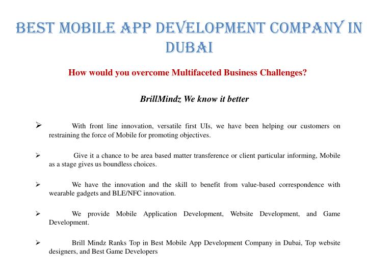 Best Mobile APP Development Company In Dubai