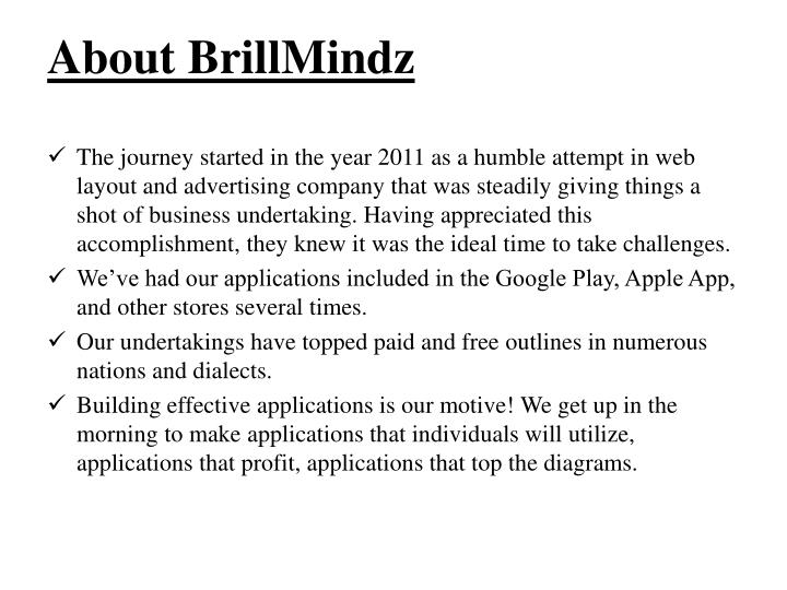 About brillmindz
