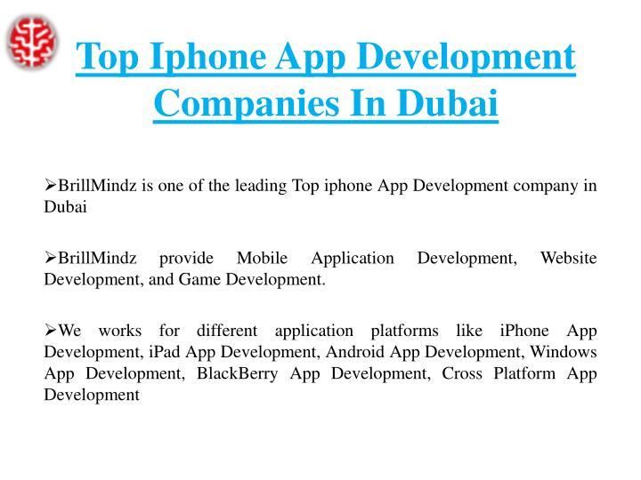 Top iphone app development companies in dubai