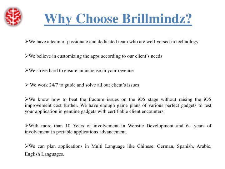 Why choose brillmindz