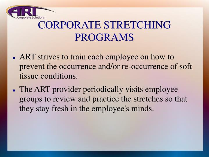 CORPORATE STRETCHING PROGRAMS