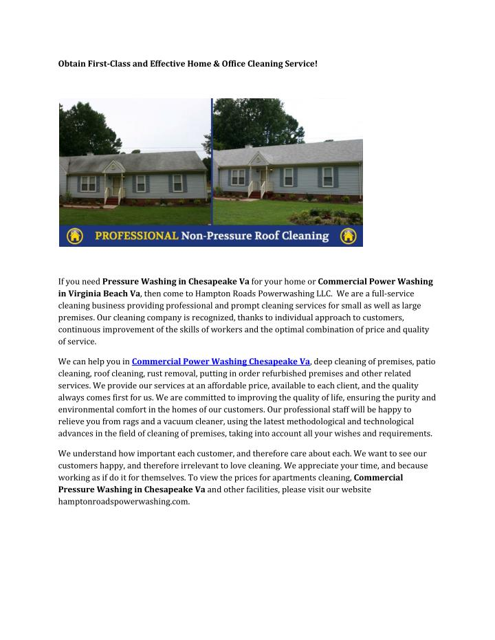 PPT - Commercial Pressure Washing Chesapeake Va PowerPoint