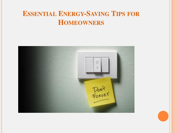 Essential energy saving tips for homeowners