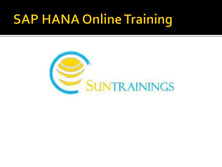 sap hana online training n.