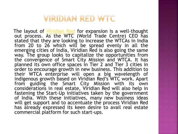 Viridian red wtc