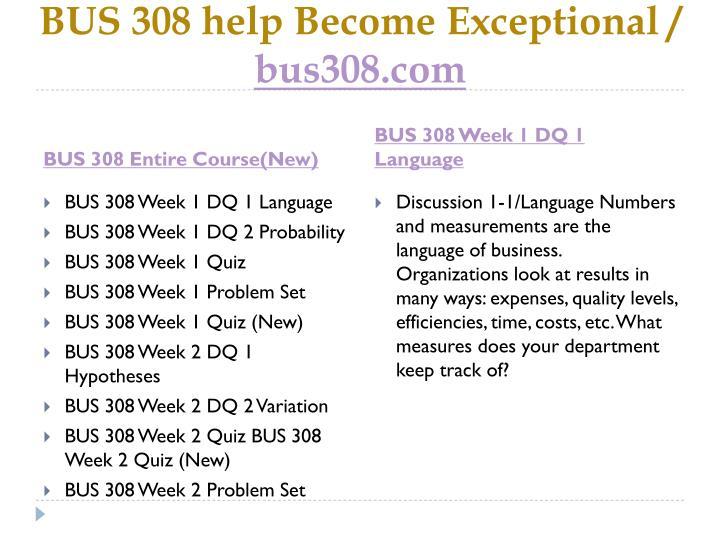 Bus 308 help become exceptional bus308 com1