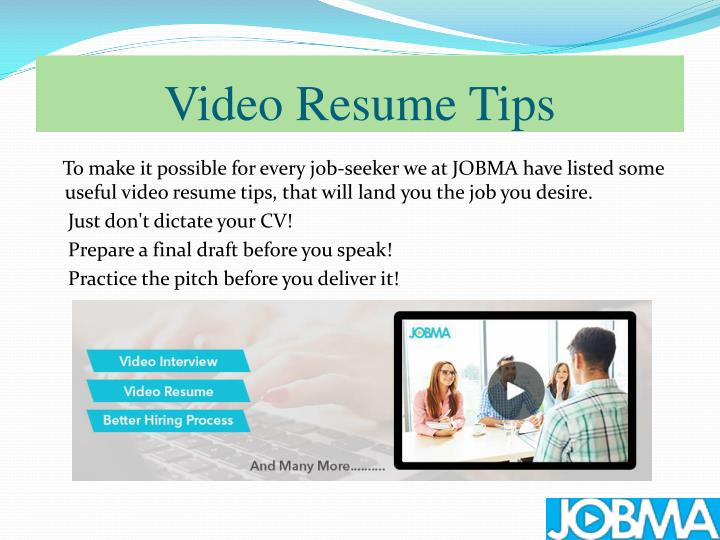 Video Resume Tips
