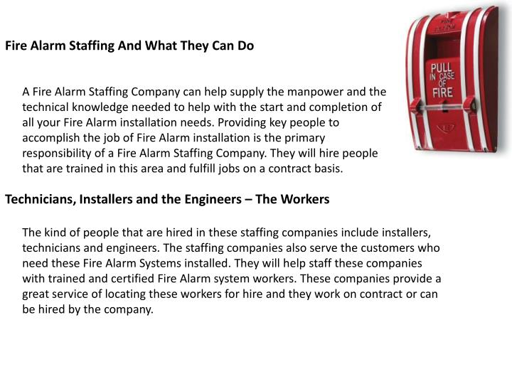 Fire Alarm Staffing And What They Can Do