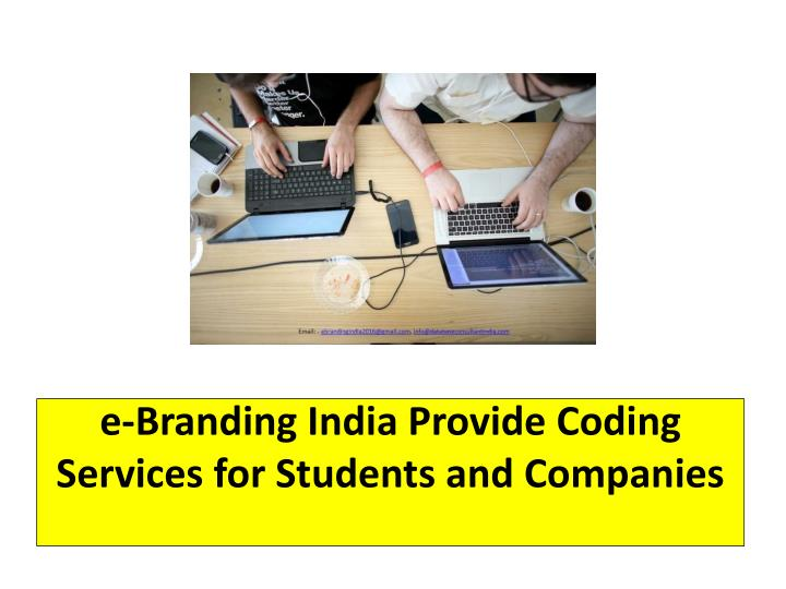 e branding india provide coding services for students and companies