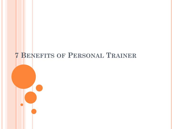 7 benefits of personal trainer