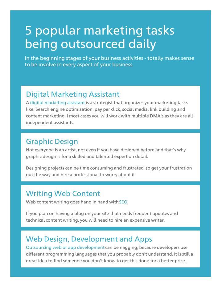 5 popular marketing tasks