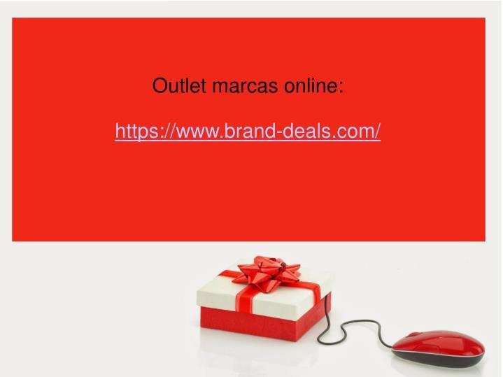 Outlet marcas online: