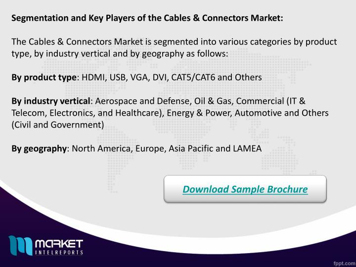 Segmentation and Key Players of the Cables & Connectors Market: