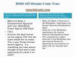 bshs 425 dreams come true tutorialrank com2