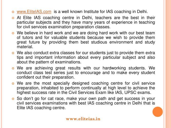 www.EliteIAS.com
