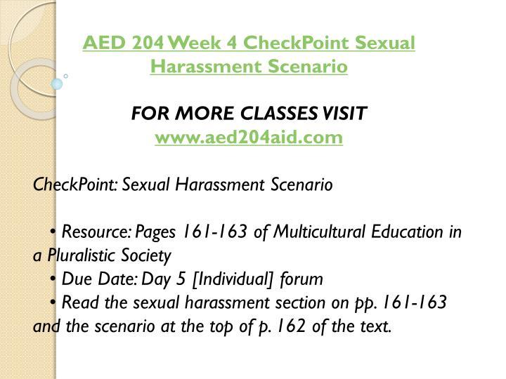 AED 204 Week 4