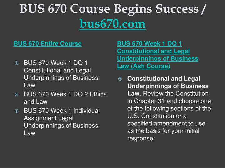 Bus 670 course begins success bus670 com1