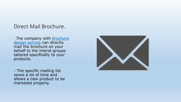 Direct Mail Brochure.