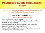 psych 575 guide excellence in study14
