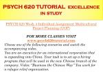 psych 620 tutorial excellence in study4