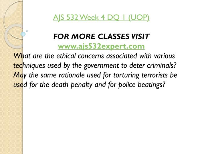 AJS 532 Week 4 DQ 1 (UOP)