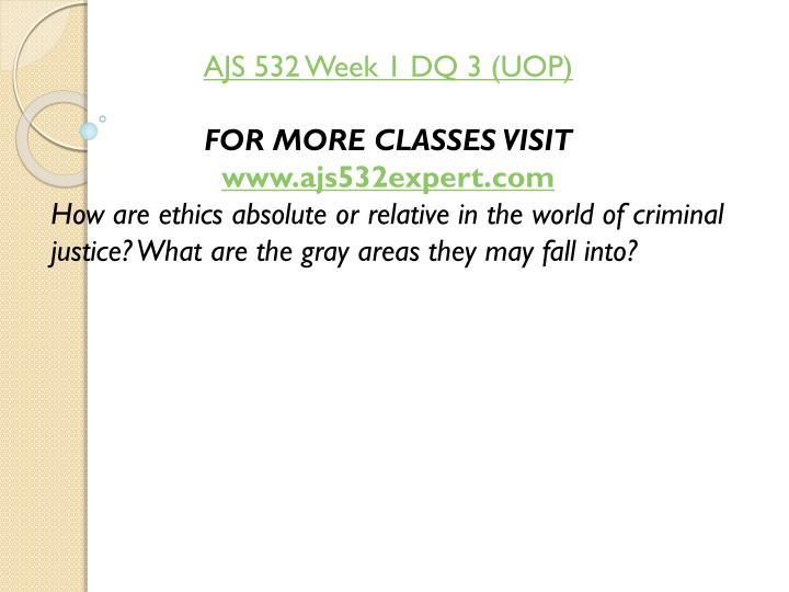 AJS 532 Week 1 DQ 3 (UOP)