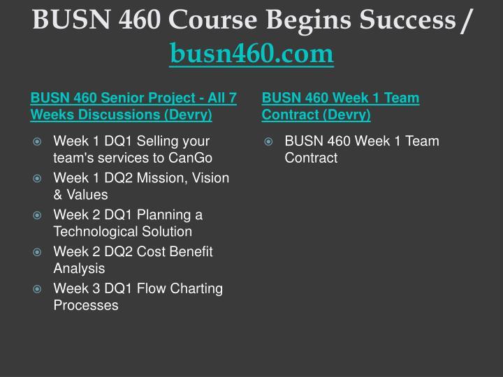 Busn 460 course begins success busn460 com2