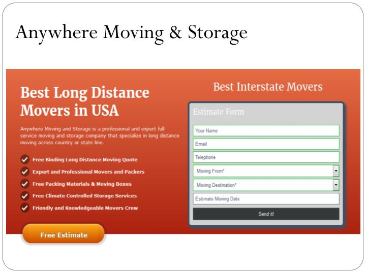 Anywhere Moving & Storage