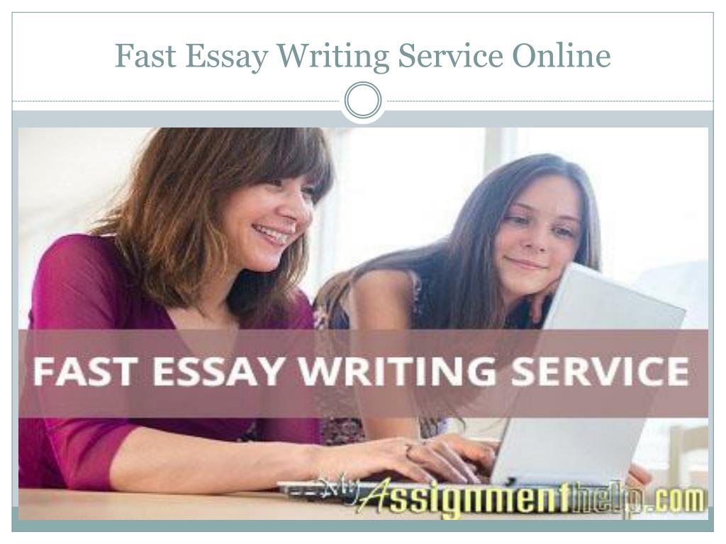 Essay writing service fast