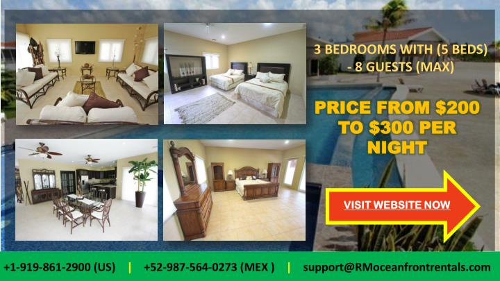 3 BEDROOMS WITH (5 BEDS) -