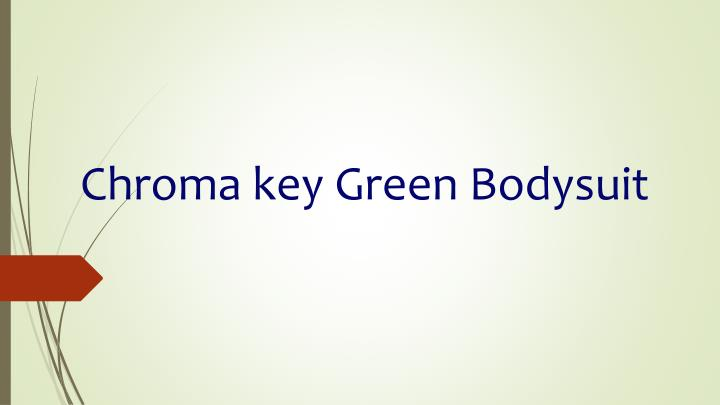 Chroma key Green Bodysuit