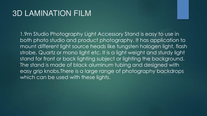 3D LAMINATION FILM