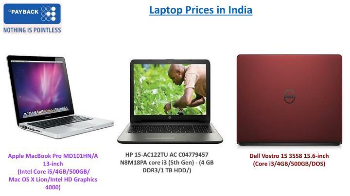 Laptop Prices in India