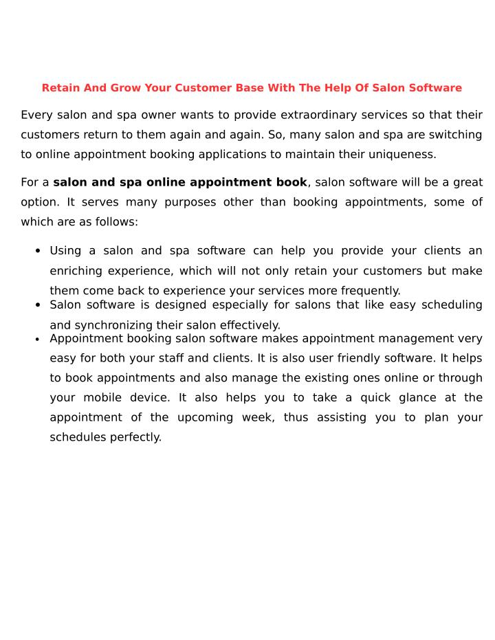 Retain And Grow Your Customer Base With The Help Of Salon Software