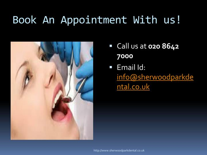 Book An Appointment With us!