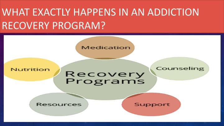 What exactly happens in an addiction recovery program