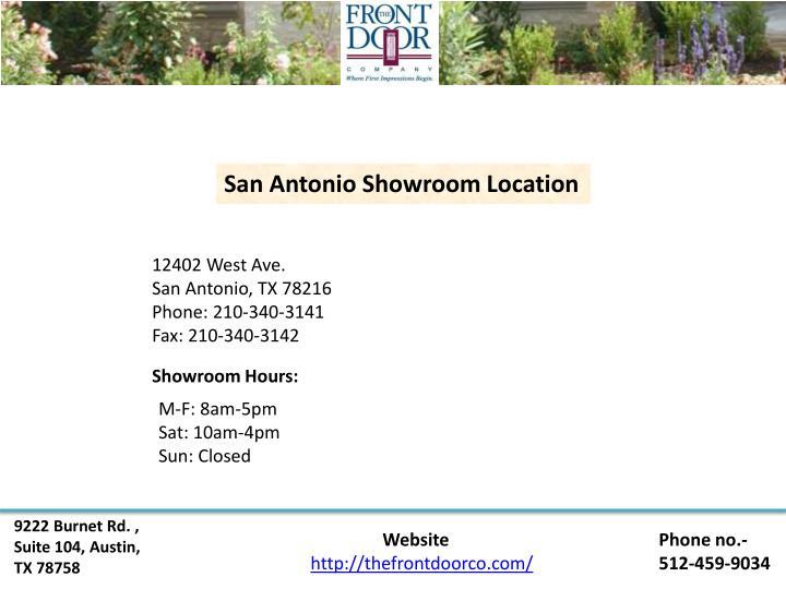San Antonio Showroom Location