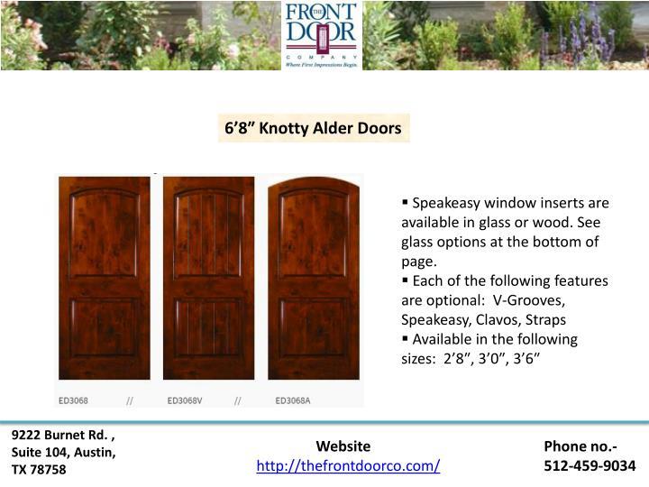 6'8″ Knotty Alder Doors